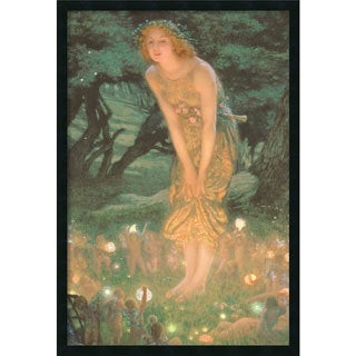 Edward Robert Hughes 'Midsummer Eve' Framed Art Print with Gel Coated Finish