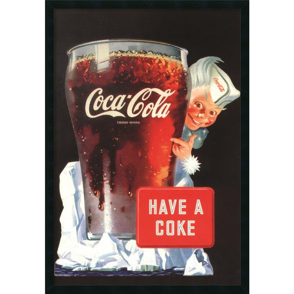 Coca-Cola - Have A Coke' Framed Art Print with Gel Coated Finish