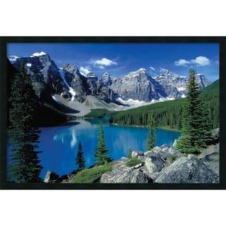 Moraine Lake, Banff' Framed Art Print with Gel Coated Finish
