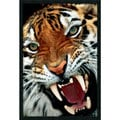 'Bengal Tiger Close-Up' Gel-Textured Art Print