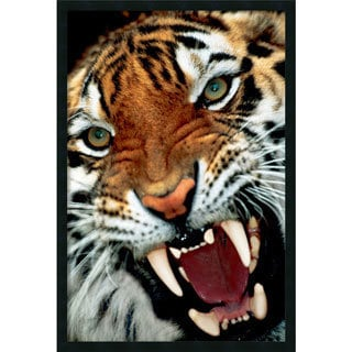 'Bengal Tiger Close-Up' Gel-Textured Art Print