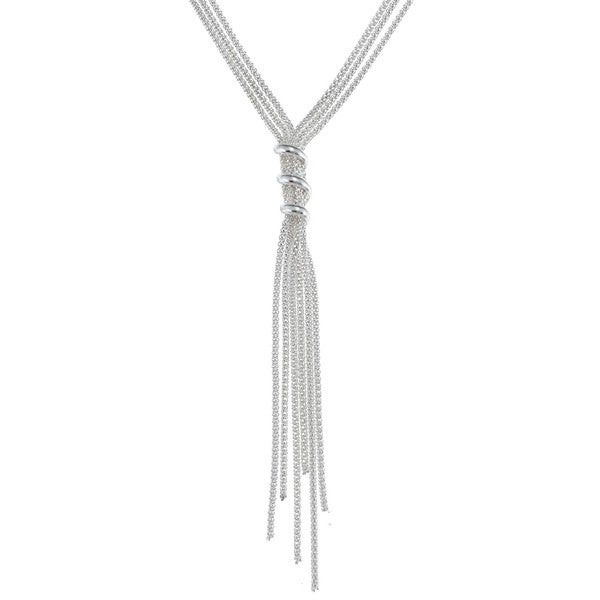 Sterling Silver Italian Tassel Fashion Necklace