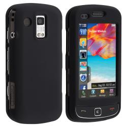 BasAcc Black Snap-on Rubber Coated Case for Samsung Rogue U960