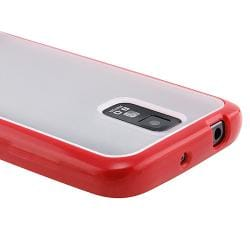BasAcc Clear with Red TPU Case for Samsung Galaxy S II T-Mobile T989