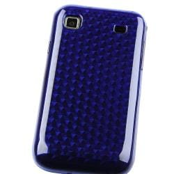BasAcc Clear Dark Blue Diamond TPU Skin Case for Samsung T959/ i9000