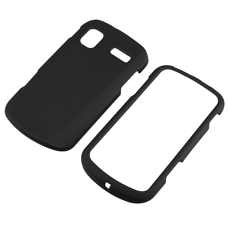 INSTEN Black Snap-on Rubber Coated Phone Case Cover for Samsung Focus SGH-i917