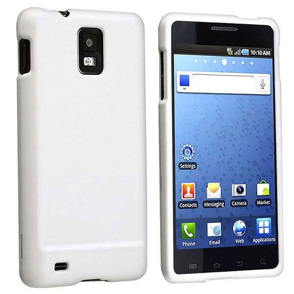 BasAcc White Snap-on Rubber Coated Case for Samsung Infuse 4G i997