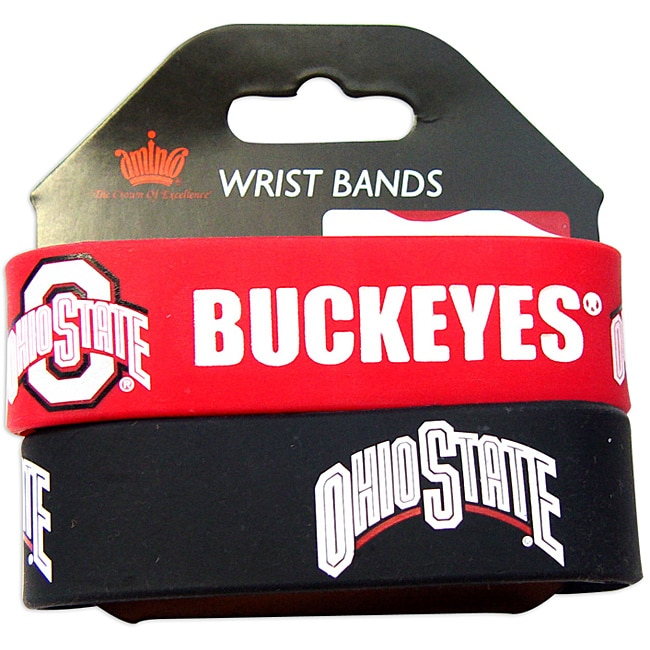 Ohio State Buckeyes Rubber Wrist Bands (Set of 2)