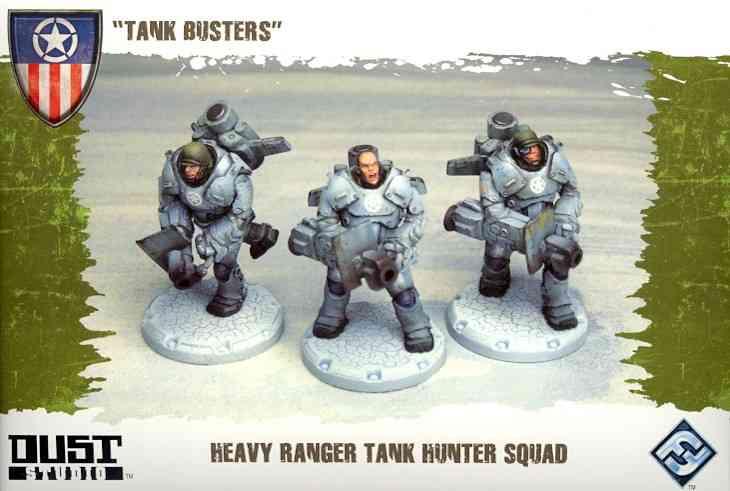 Dust Tactics Heavy Ranger Tank Hunter Squad: Tank Busters (Toy)