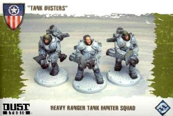 Dust Tactics Heavy Ranger Tank Hunter Squad: Tank Busters (Toy)