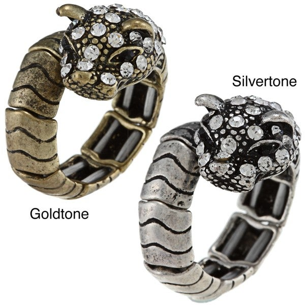 Celeste Crystal Panther Stretch Ring