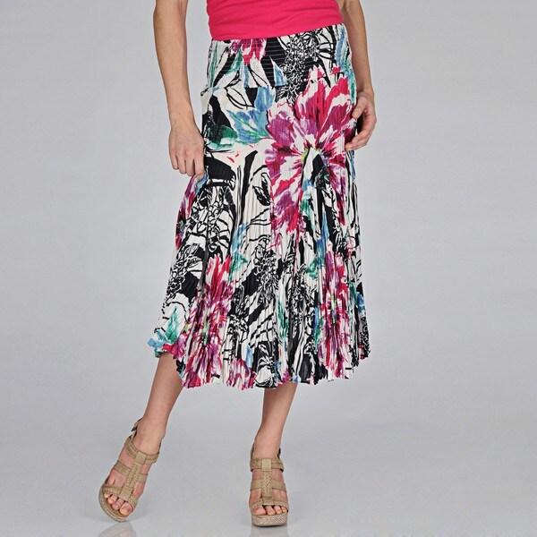 Grace Elements Women's Hawaiian Floral Cotton Skirt