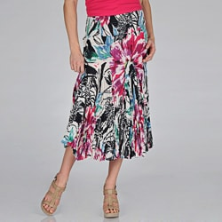 Grace Elements Women's Hawaiian Floral Cotton Skirt