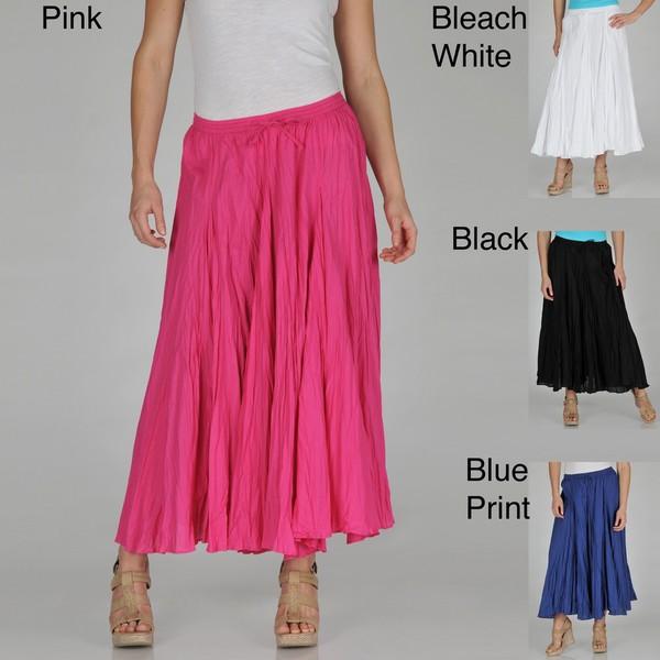 Grace Element Women's Cotton Crinkle Skirt