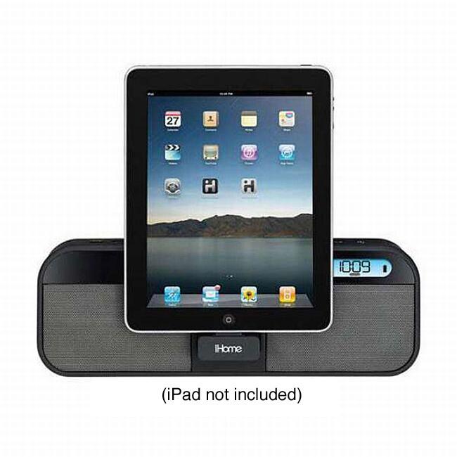 iHome ID28BZC Portable Speaker FM Stereo Clock Radio for iPad/ iPhone/ iPod