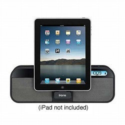 iHome ID28BZC Portable Speaker FM Stereo Clock Radio for iPad/ iPhone/ iPod