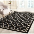Safavieh Poolside Black/ Beige Indoor Outdoor Rug (2'7 x 5')