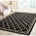 Safavieh Poolside Black/ Beige Indoor Outdoor Rug (5'3 x 7'7)