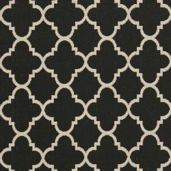 Poolside Black/ Beige Indoor Outdoor Rug (9' x 12')