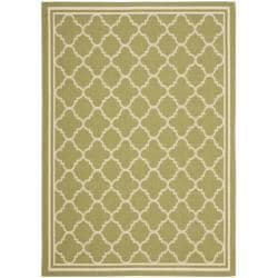 "Poolside Green/Beige Indoor/Outdoor Polypropylene Rug (2'7"" x 5')"