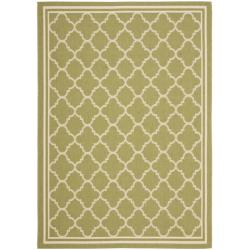 Poolside Green/ Beige Indoor Outdoor Rug (6'7 x 9'6)