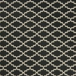 Poolside Black/Beige Stain-Resistant Indoor/Outdoor Rug (9' x 12')