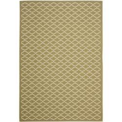 Safavieh Poolside Green/ Beige Indoor Outdoor Rug (8' x 11'2)