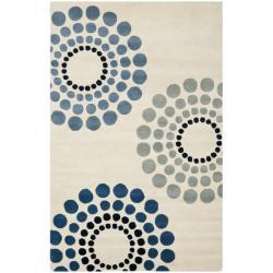 Handmade Soho Celeste Ivory New Zealand Wool Rug (7'6 x 9'6)