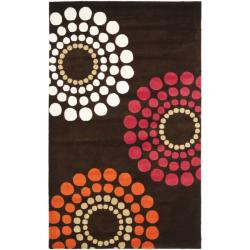 Handmade Soho Celeste Brown New Zealand Wool Rug (7'6 x 9'6)
