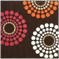 Handmade Soho Celeste Brown New Zealand Wool Rug (6' Square)
