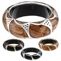 Celeste Ornate Wood Bangle Bracelet