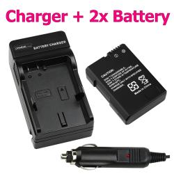 BasAcc Battery/ Charger Set for Nikon EN-EL14/ CoolPix P7000 Camera