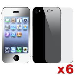 BasAcc Mirror LCD Screen Protector for Apple iPhone 4 (Pack of 6)