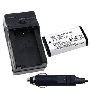INSTEN Camera Battery a Charger for Kodak KLIC-8000