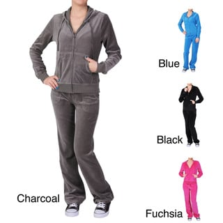 Journee Collection Women's 2-piece Velour Track Suit