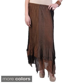 Hailey Jeans Co. Pretty Angel Women's Elastic Waist Crinkle Skirt