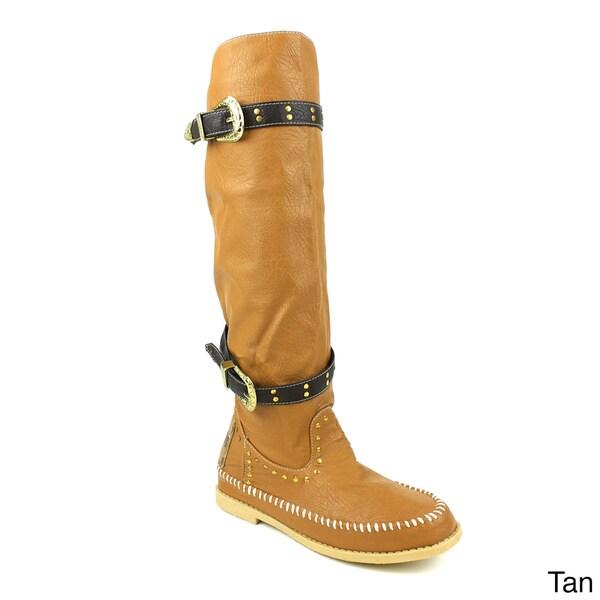 Sam and Jeffrey Women's 'Canper-01' Knee High Western Boots