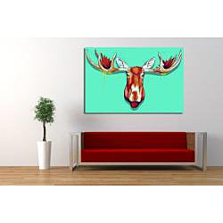Maxwell Dickson 'Moose Head' Canvas Wall Art