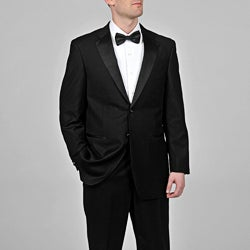 Caravelli Men's Black Satin-Detailed Fully Lined Tuxedo