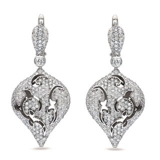 Miadora 18k White Gold 4ct TDW Diamond Earrings (G-H, SI1-SI2)