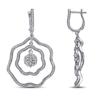Miadora Signature Collection 18k White Gold 2 2/5 ct TDW Diamond Earrings (G-H, SI1-SI2)