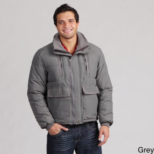 Sean John Men's Double Zip Ripstop Puffer Jacket