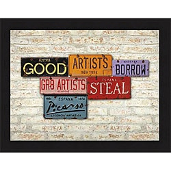 Greg Constantine 'Picasso, Steal' Framed Print