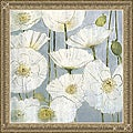 Elise Remender 'White Poppies' Framed Print