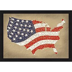 L.A. Pop Art 'Star Spangled Banner' Framed Print
