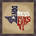 L.A. Pop Art 'Don't Mess with Texas' Framed Print