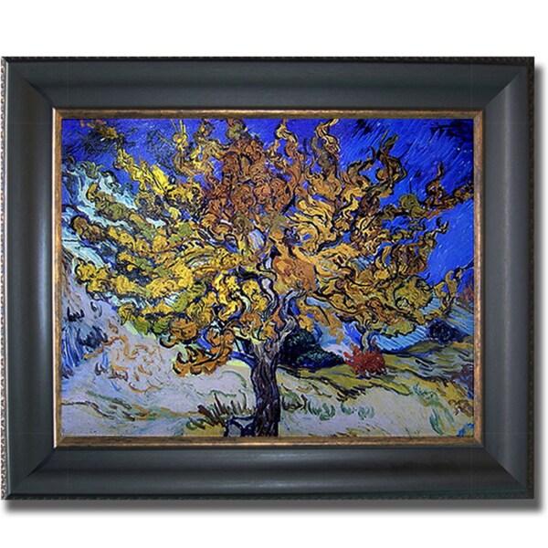 Vincent Van Gogh 'Mulberry Tree' Framed Canvas Art