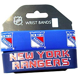 Aminco New York Rangers Rubber Wristbands (Set of 2)