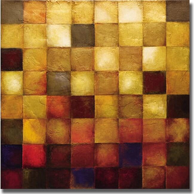 Wani Pasion 'Cerveny' Canvas Art