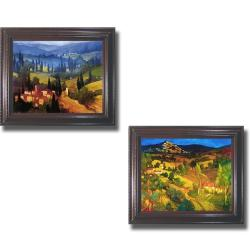 Philip Craig 'Tuscan Valley Views' Framed 2-piece Canvas Art Set